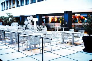 Restaurant Amici: Essen auf Gläsern