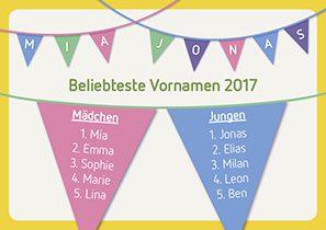 Beliebteste Vornamen 2017