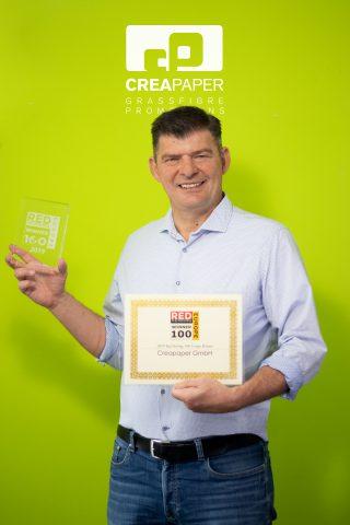 Red Herring Award für Papierherstellung aus Gras