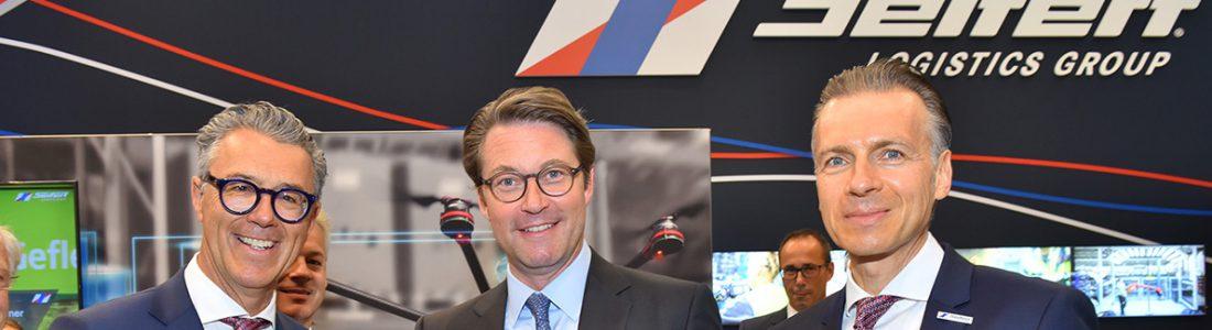Verkehrsminister Scheuer besucht Seifert-Messestand | Medienservice für Journalisten