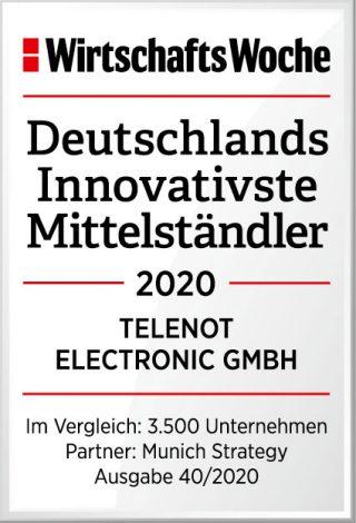 Telenot gehört 2020 zur Top Ten der  Innovations-Champions in Deutschland
