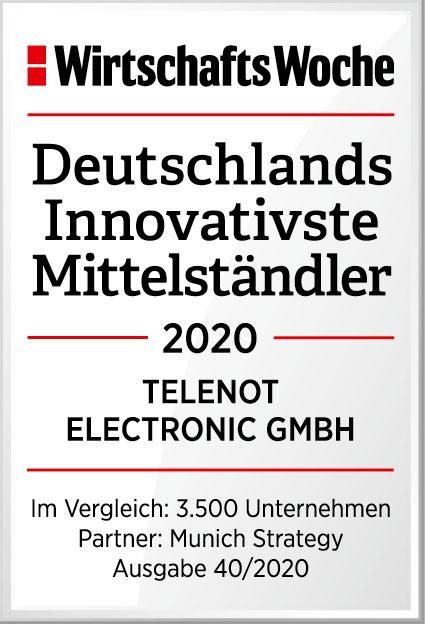 Telenot gehört 2020 zur Top Ten der  Innovations-Champions in Deutschland - Der Pressedienst - Medienservice für Journalisten